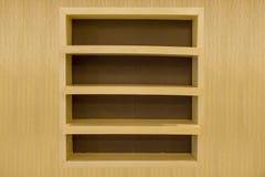 Pusta drewniana półka. Obrazy Stock