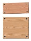 Pusta drewniana szyldowa kolekcja Obrazy Royalty Free