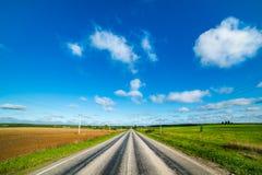 pusta droga obszarów wiejskich Obraz Royalty Free