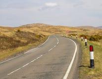 pusta droga obszarów wiejskich perspektywa w wiośnie Obrazy Stock