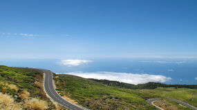 Pusta droga w Hiszpania wyspa kanaryjska Tenerife Los Angeles Palma Fotografia Stock