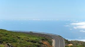 Pusta droga w Hiszpania wyspa kanaryjska Tenerife Los Angeles Palma Obrazy Royalty Free