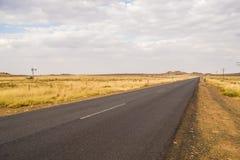 Pusta drogowa scena Zdjęcie Stock