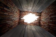 pusta dziury pokoju ściana obrazy stock