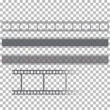 Pusta ekranowej ramy zapasu ilustracja Wizerunek rama filmu wektor Zdjęcia Stock