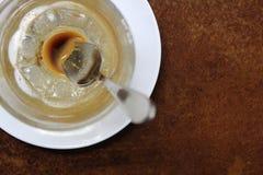 Pusta filiżanka po kawy espresso Fotografia Royalty Free