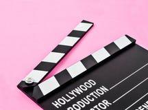 Pusta film produkci clapper deska lub łupku film Obrazy Stock