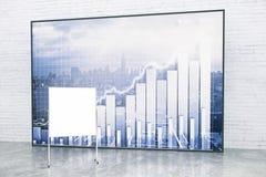 Pusta flipboard i rynków walutowych mapa Obrazy Stock