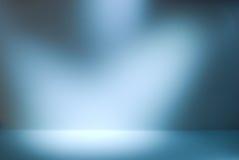 Pusta galerii ściana z światłami dla wizerunków i reklamy Obrazy Royalty Free