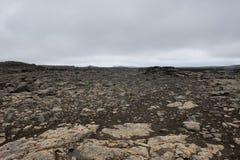 Pusta i nieżywa ziemia jak inna planeta, od, Iceland Zdjęcia Stock