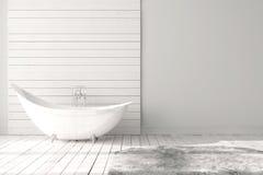 Pusta jaskrawa łazienka zdjęcia stock