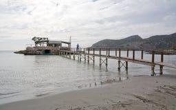 Pusta jesieni plaża Zdjęcia Stock