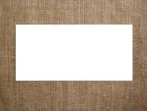 Pusta karta na z kanwą Mockup wystawiać twój grafika Zdjęcie Stock