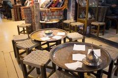 Pusta kawiarnia wśrodku tureckiego rynku Fotografia Royalty Free