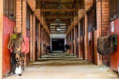 Pusta końska stajenka zdjęcie stock