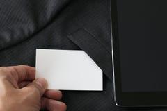 Pusta korporacyjnej tożsamości pakunku wizytówka z zmrokiem popielaty su Zdjęcia Stock