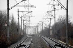 Pusta linia kolejowa Zdjęcia Stock