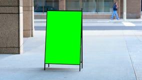 Pusta menu deska na ulicie zbiory wideo