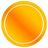 Pusta metal odznaka, emblemat ikona Kruszcowy okręgu guzik Zdjęcie Royalty Free