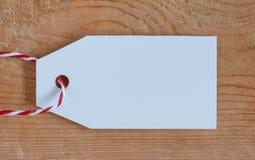 Pusta metki etykietka na drewnianym tle Czarny Piątek, Cyber Poniedziałek i Duży sprzedaży pojęcie, Fotografia Stock
