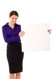 pusta mienia znaka kobieta Obraz Stock