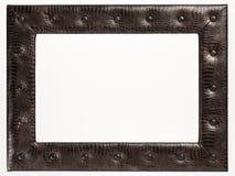 Pusta obrazek rama na białym tle Obrazy Royalty Free