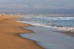 Pusta ocean plaża blisko Los Angelos, Kalifornia Obraz Royalty Free