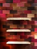 Pusta półka dla eksponata na koloru drewnie. EPS 10 Obrazy Royalty Free
