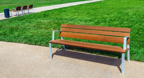 Pusta Parkowa ławka Obraz Stock