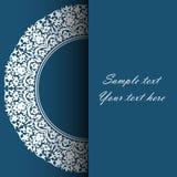 Pusta pionowo lampasa etykietka Zaproszenie karta dla ślubu, royalty ilustracja