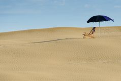 pusta plaża Obraz Royalty Free