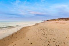 pusta plaża Zdjęcia Stock