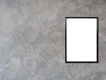 Pusta plakatowa fotografii rama na cement ścianie Zdjęcie Royalty Free