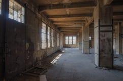 Pusta podłoga w fabryce zdjęcia royalty free