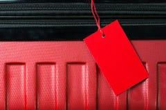 Pusta podróż bagażu etykietka fotografia royalty free