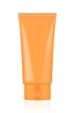 Pusta Pomarańczowa tubka Zdjęcie Royalty Free