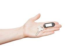 pusta ręki klucza srebra etykietka Obraz Stock