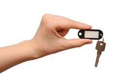 pusta ręki klucza srebra etykietka Zdjęcia Royalty Free