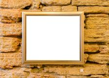 Pusta rama na ścianie w sztuki współczesnej galerii muzealnym eksponacie Bla fotografia royalty free