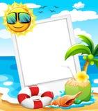 Pusta rama przy plażą Obraz Stock