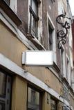 Pusta reklamy przestrzeń na betonowej ścianie w ulicie outside zdjęcia stock