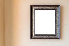 Pusta rocznik fotografii rama na ścianie fotografia stock