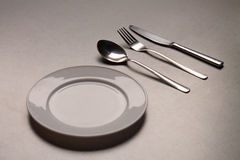 pusta rozwidlenia noża talerza łyżka Zdjęcia Stock