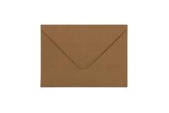 Pusta rzemiosło papieru koperta odizolowywająca na białym tle Obraz Royalty Free