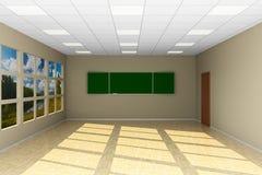 Pusta sala lekcyjna z blackboard ilustracja 3 d Zdjęcia Royalty Free