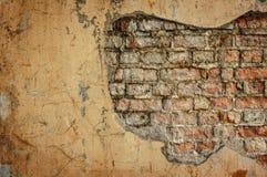 Pusta Stara ?ciana z cegie? tekstura Maluj?ca Zak?opotana ?ciany powierzchnia Grungy Szeroki Brickwall Grunge czerwie? stonewall  obraz stock