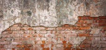 Pusta Stara ?ciana z cegie? tekstura Maluj?ca Zak?opotana ?ciany powierzchnia Grungy Szeroki Brickwall Grunge czerwie? stonewall  zdjęcie royalty free