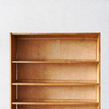 Pusta stara retro drewniana książkowa półka Zdjęcie Royalty Free