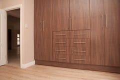 Pusta sypialnia Nowy dom fotografia stock