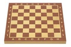 Pusta szachowa deska, 3D rendering Obrazy Royalty Free